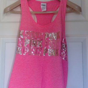 NWOT Victoria's Secret Pink Bling Tank Small